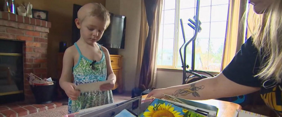 Ellie's mother Sarah Walton told ABC News that she asked people to send Ellie postcards, just a few postcards here and there, but in a matter of time, they were dozens! Photo credit: ABC News