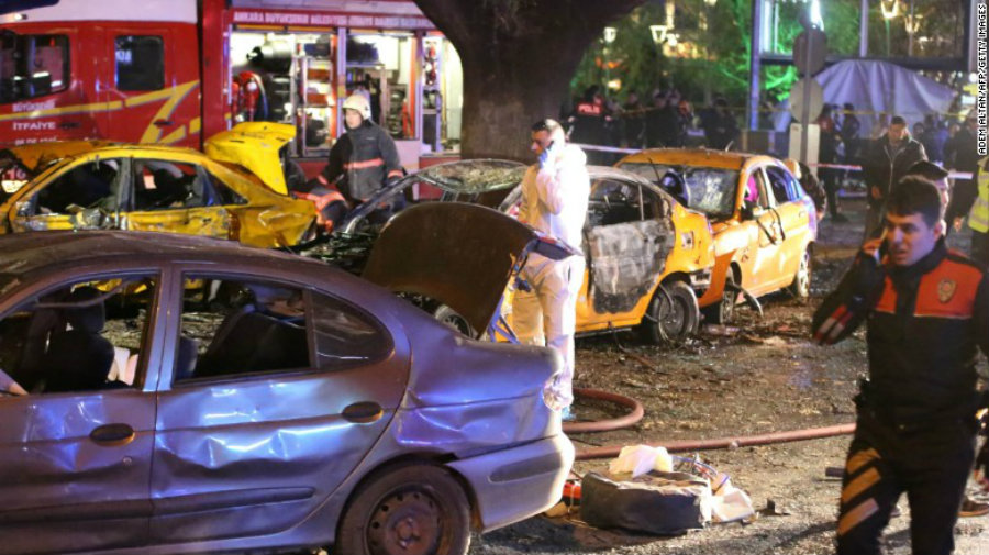 The Kurdistan Freedom Hawks (TAK), a terror group linked to the outlawed Kurdistan Workers' Party (PKK) claimed on Thursday responsibility for the suicide car-bomb attack that stroke the Turkish capital on March 13. Photo credit: CNN