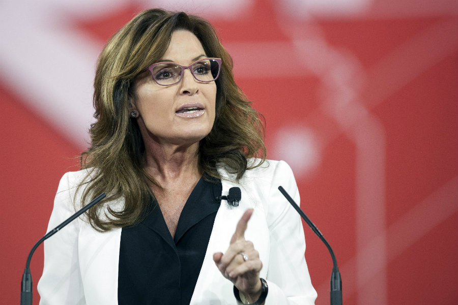 Former Alaska governor, Sarah Palin, has signed a deal with the production company Warm Springs to film the pilot of a courtroom TV show. Photo credit: Cliff Owen / Washington Times