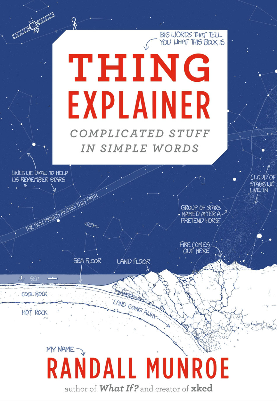 Randall Munroe announced through his publisher that his recent book Thing Explainer: Complicated Stuff in Simple Words will now figure in high school textbooks. Photo credit: