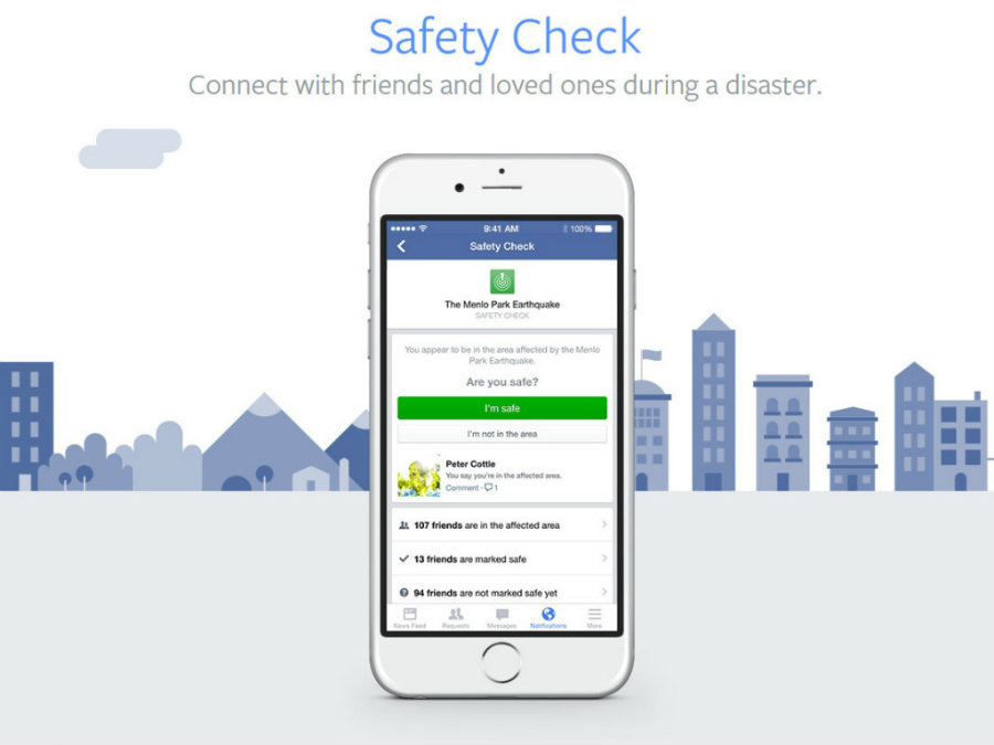 "Facebook apologized on Sunday night for a bug that requested the activation of the ""Safety Check"" to people who were not in the Pakistani city of Lahore. Photo credit: Hungry Geeks"