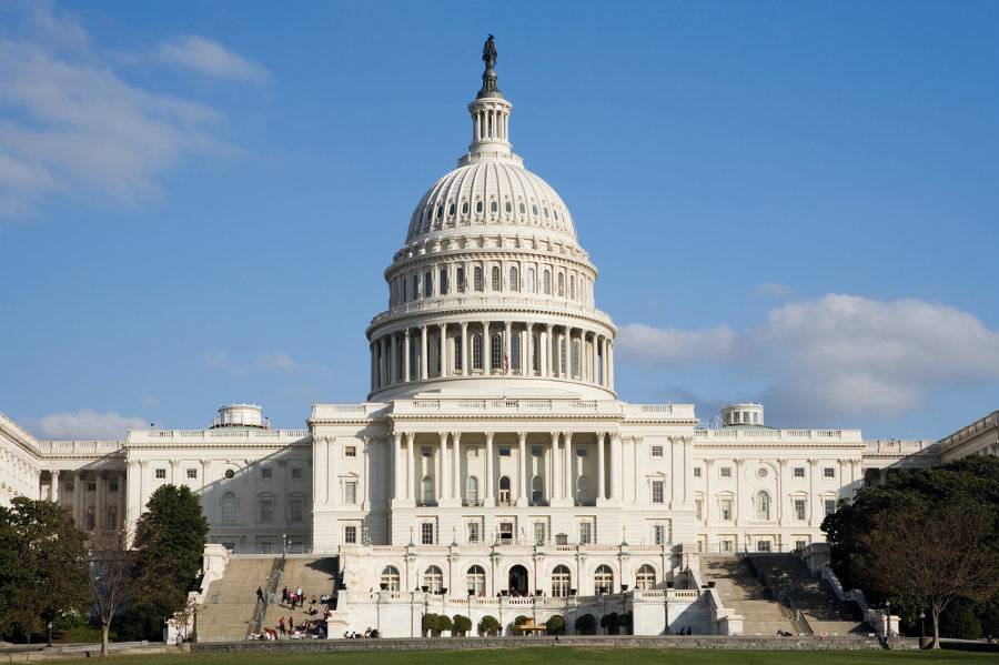 Gunshots have been reported on Monday afternoon in the US Capitol complex. Photo credit: Politics PA
