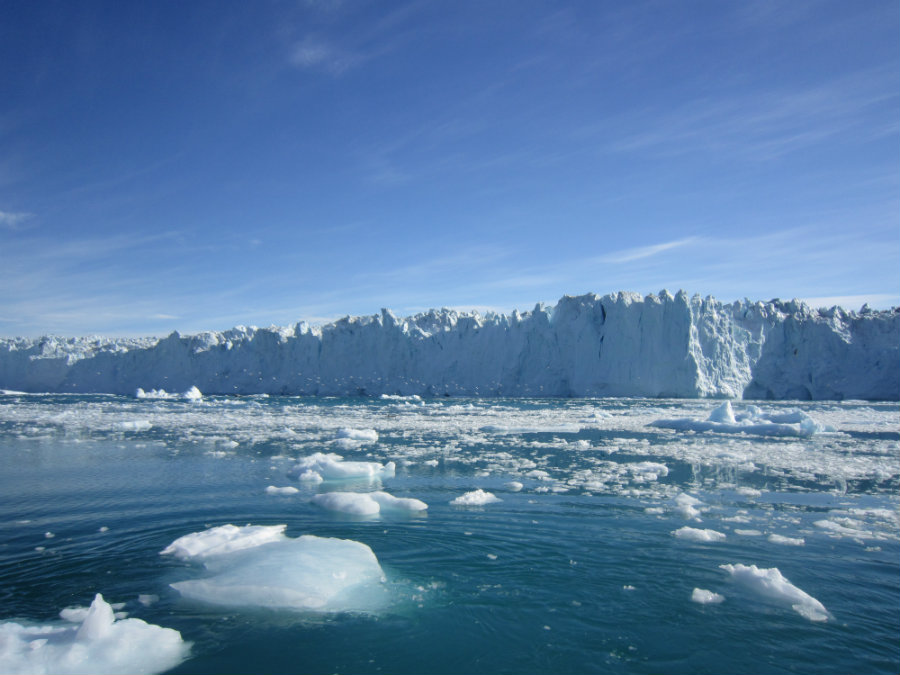 According to a new study, the emission of gases could lead to the disintegration of ice sheets in the next few decades. Photo credit: Eric Rignot, JPL / AGU