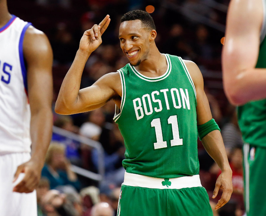 Evan Turner suffered a left-eye injury in the last seconds of Boston's 107-100 victory over the Los Angeles Lakers on Sunday. Photo credit: Triangle Offense