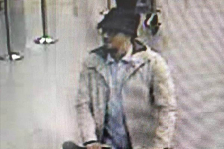 Authorities have released videos and photos showing another suspect of the Brussels attack on Thursday. Photo credit: NBC News