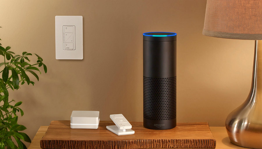 Users of Caséta are now able to ask Amazon's Alexa to turn connected lights or groups of lights on and off. Photo credit: Engadget