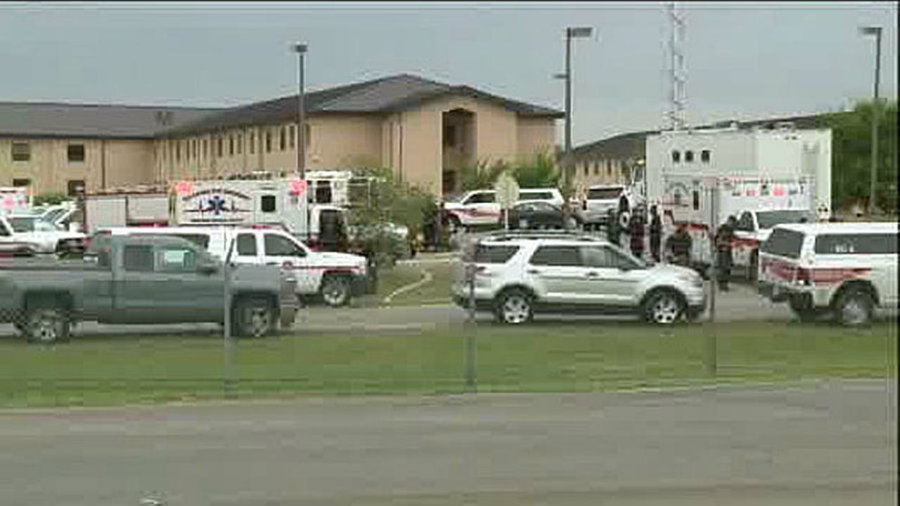 At least two men have been found dead in what appears to be a murder-suicide at Lackland Air Force Base in San Antonio, Texas. Photo credit: 6 ABC