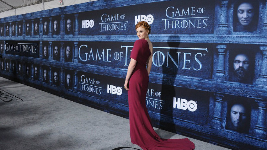 """Actress Sophie Turner arrives at the Premiere Of HBO's """"Game Of Thrones"""" Season 6 at TCL Chinese Theatre on April 10, 2016 in Hollywood, California. Credit: Filmmagic / Mashable"""