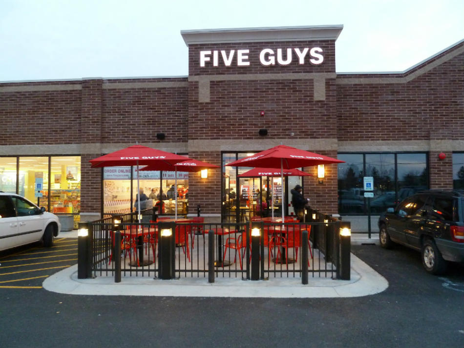 A man broke into a Five Guys Restaurant in Washington DC, but he didn't steal any money from it, he stole burgers. Photo credit: kbahn.blogspot.com