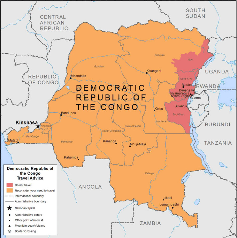 The World Health Organization (WHO) has reported at least 21 deaths from yellow fever in the Democratic Republic of Congo. Photo credit: Smart Traveller