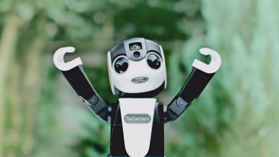 On May 26, Japan's Sharp will launch RoboHon, a unique Smartphone built into a tiny humanoid robot. Photo credit: El Mundo