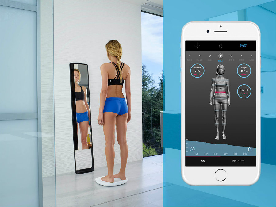 Naked Labs introduced its new 3-D home body scanner on April 14, 2016. Photo credit: Naked