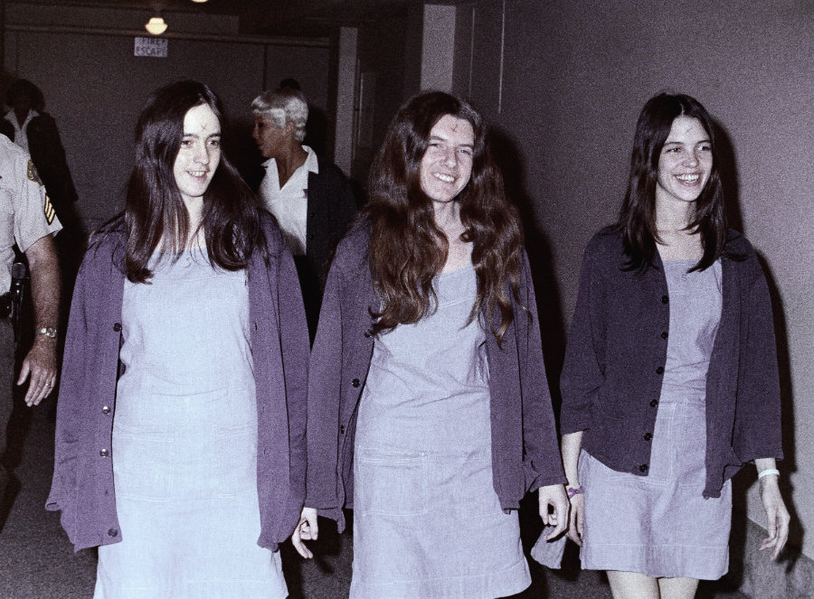 Van Houten (right) was 19 when she committed the murders of Rosemary and Leno La Bianca. Photo credit: Washington Times