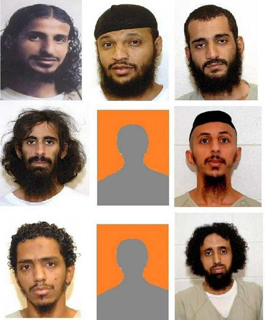 All nine men sent to Saudi Arabia Saturday were Yemeni citizens with family now living in the Saudi kingdom. Credit: Miami Herald