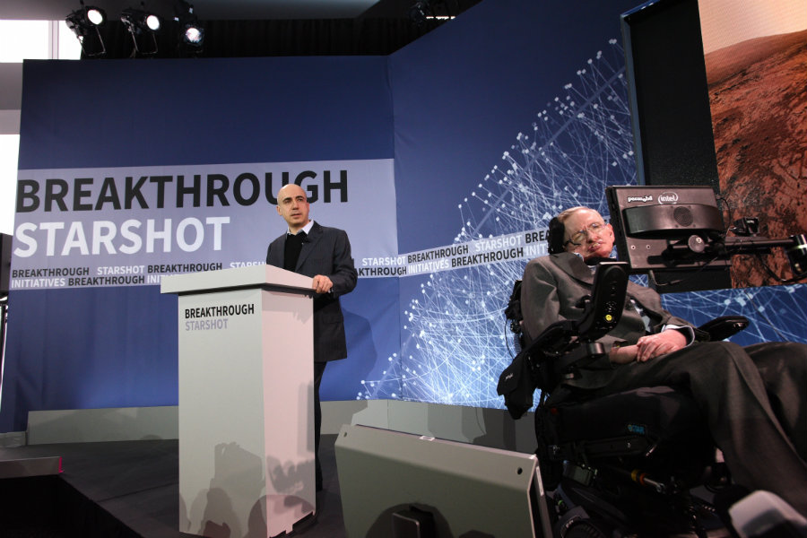 Stephen Hawking just revealed his most ambitious project for the Breakthrough Initiative: the StarShot.  Photo credit: IB TImes