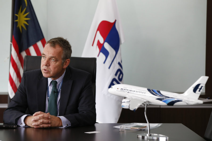 Christoph Mueller, first foreign chief executive of Malaysia Airlines, will quit in September because of personal reasons. Photo credit: AP Photo / Vincent Thian / Washington Times