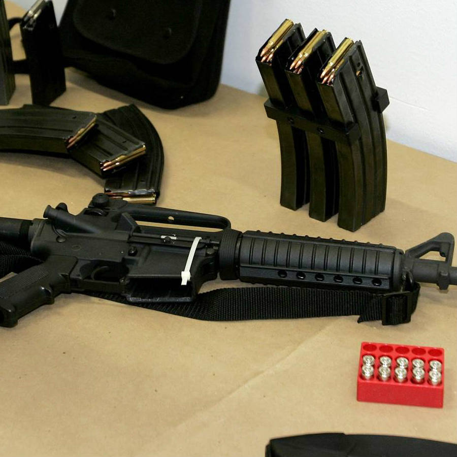 Introducing heavy arms as assault rifles into school property in the Colorado District comes as a preventive measure due the latest violent incidents happened in schools nationwide. Credit: NBC News