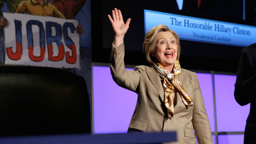 Presidential candidate Hillary Clinton won the New York Democratic primaries on Tuesday, with approximately 57.9 percent of votes and 139 delegates. Photo credit: