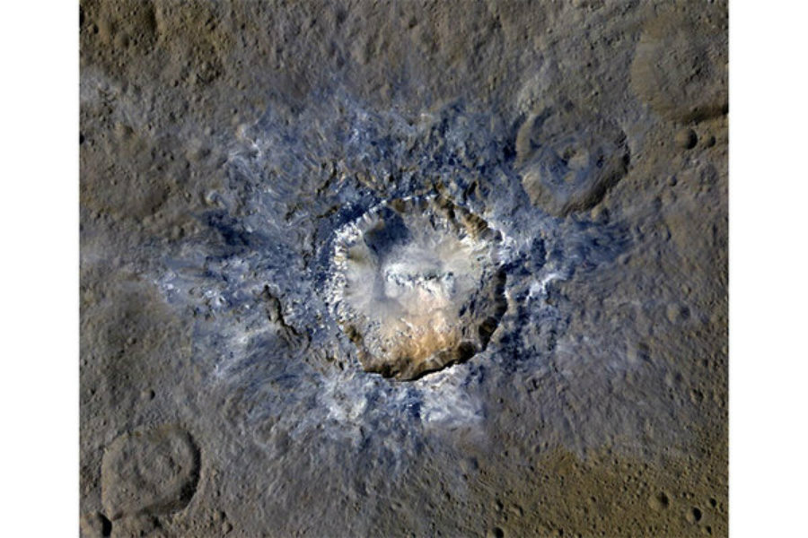 Bizarre craters have been found on the dwarf planet located between Mars and Jupiter, Ceres. Photo credit: Christian Science Monitor