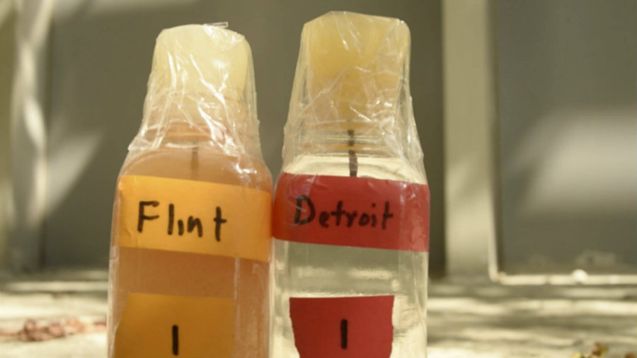 Three officials in charge of the maintenance of water in Flint, Michigan, have been charged with felony and misdemeanor as part of a criminal investigation about lead-contaminated water that has affected more than 100,000 citizens in the city. Photo credit: Democracy Now