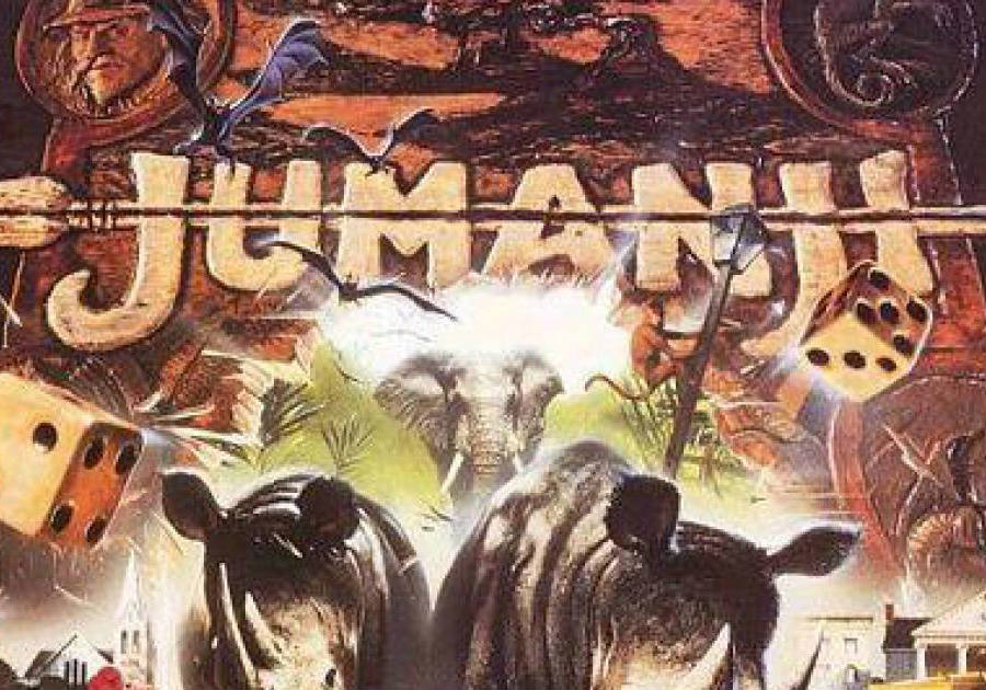 The original Jumanji movie release in the 90s included a huge production for that time as it used plenty of wild animals in the making of the film, in order to portray an accurate depiction of the board game. Credit: Melty