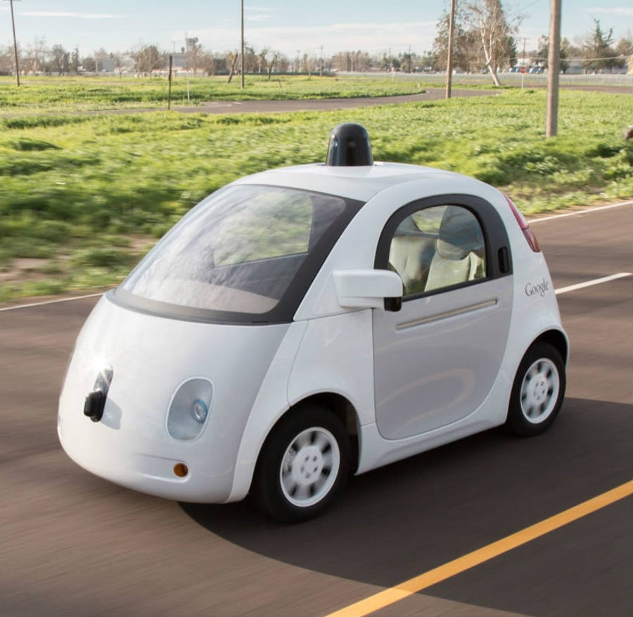 As seen above, Google's self-driving car protoype. It's not news that a number of different companies have been working to develop self-driving cars. yet the race has just got heavier. Credit: InHabitat