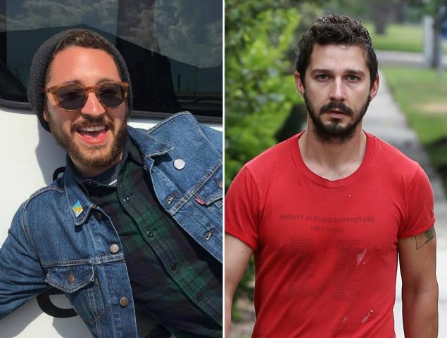 An art director from Brooklyn said a stranger punched him in the face as he walked out of a Lower East Side subway station — provoked, his assailant told him, because he resembles actor Shia LaBeouf. Credit: In USA News