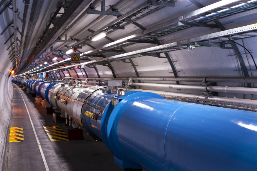 The world's largest and most powerful particle accelerator known as the Large Hadron Collider (LHC) shut down on Friday after a weasel chewed through a 66,000-volt transformer, Photo credit: ESA