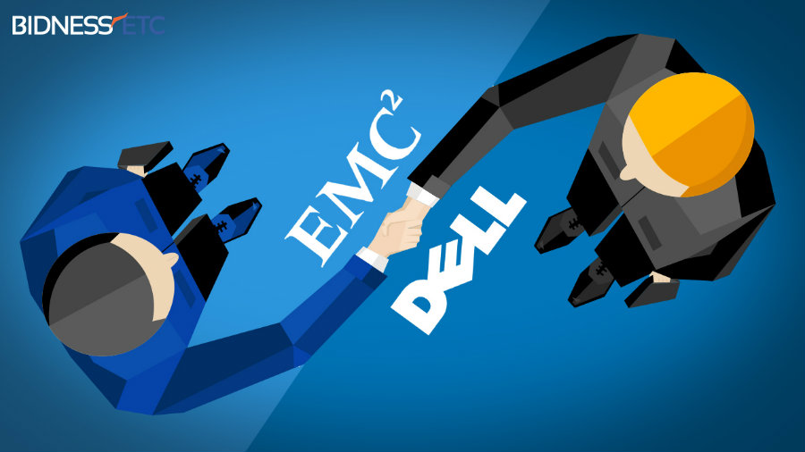 The merger between Dell  is estimated at $59 billion and will be called Dell Technologies. Photo credit: Bidness Etc