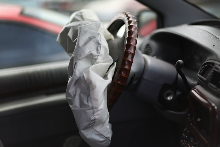 In two different traffic crashes in Malaysia, two persons died because Takata air bag inflators exploded with too much force. Photo credit: Chicago Tribune