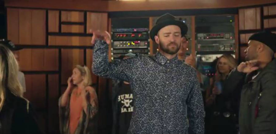 Justin Timberlake on the set of its new album