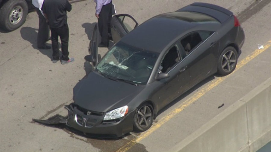 A car driver was injured on Friday along Interstate 94 in Detroit when he was driving and his car was shot multiple times. Photo credit: 13 ABC