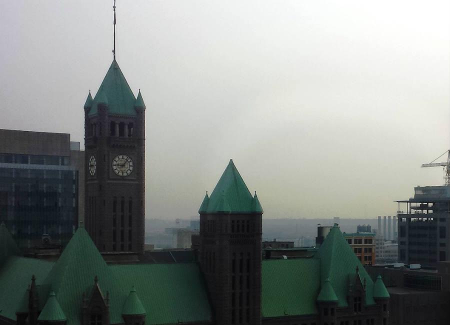 Twin Cities overlook