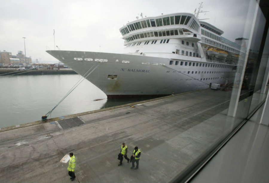 The CDC said 252 of the 919 passengers on board a British cruise to North America have contracted the winter vomiting bug, also known as norovirus. Photo credit: Chris Helgren / Reuters / Huffington Post