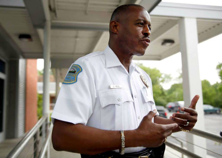 The new Ferguson police chief worked for 32 years as a police officer in Miami, where he grew up. Image Credit: WNEM