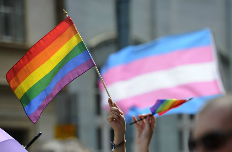 People hold up rainbow flags during an LGBT parade held last week in New York City. The recent rule by the DHHS is set to provide fairness and equality for all genders. Image Credit: PBS