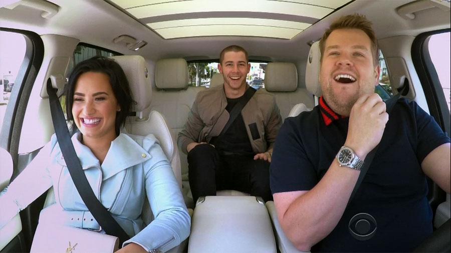 Demi and Nick sing at Carpool Karaoke