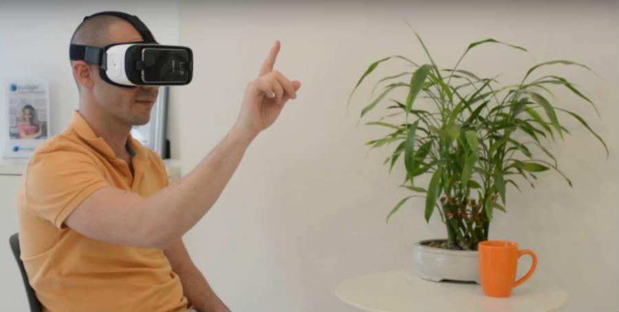 A demonstration of EyeSight's VR Gear