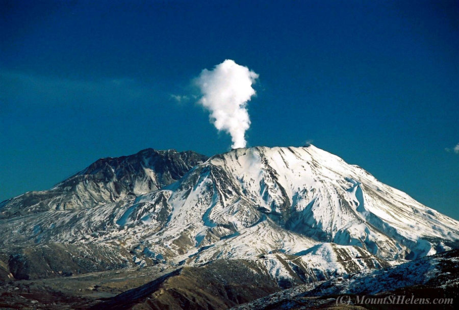 Exactly 36 years ago, Mount St. Helens erupted 60,000 feet into the air. Photo credit: MountStHelens.com