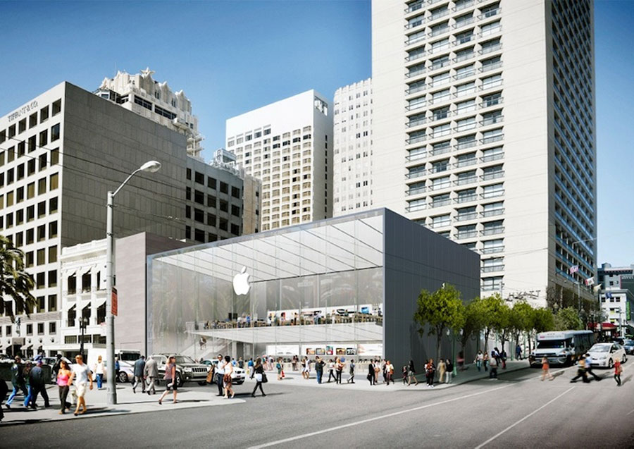 Apple redesigns San Francisco store