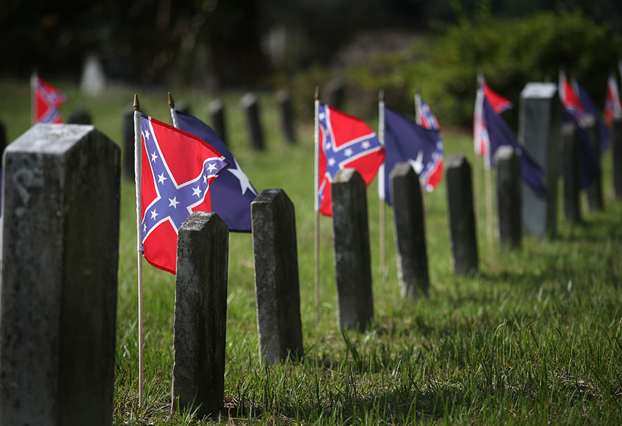 Confederate flag to be banned from cementeries