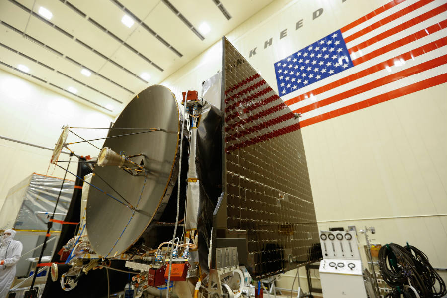OSIRIS-Rex Spacecraft Assembled as it was set to being the environmental test phase