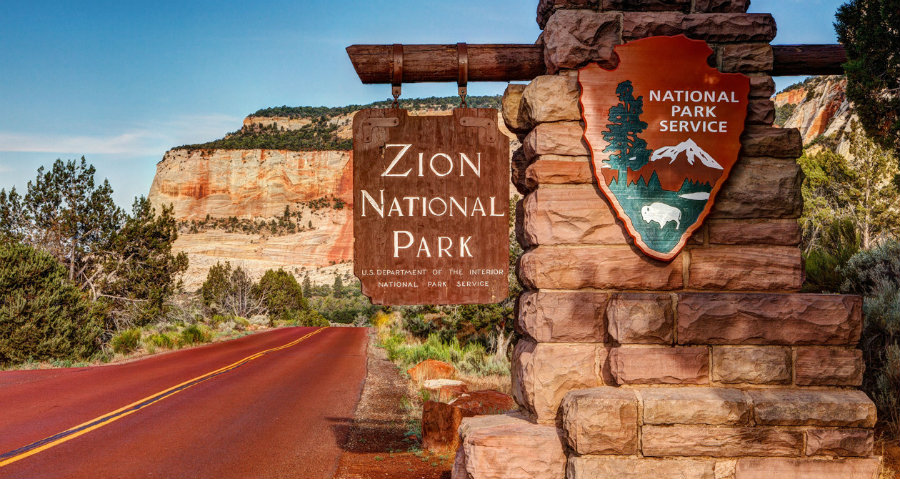 Around 4,800 years ago, a massive landslide occurred over the Zion Canyon's Virgin River, which gave its current shape to the Zion National Park and created a huge lake that is now able to be crossed on foot. Photo credit: