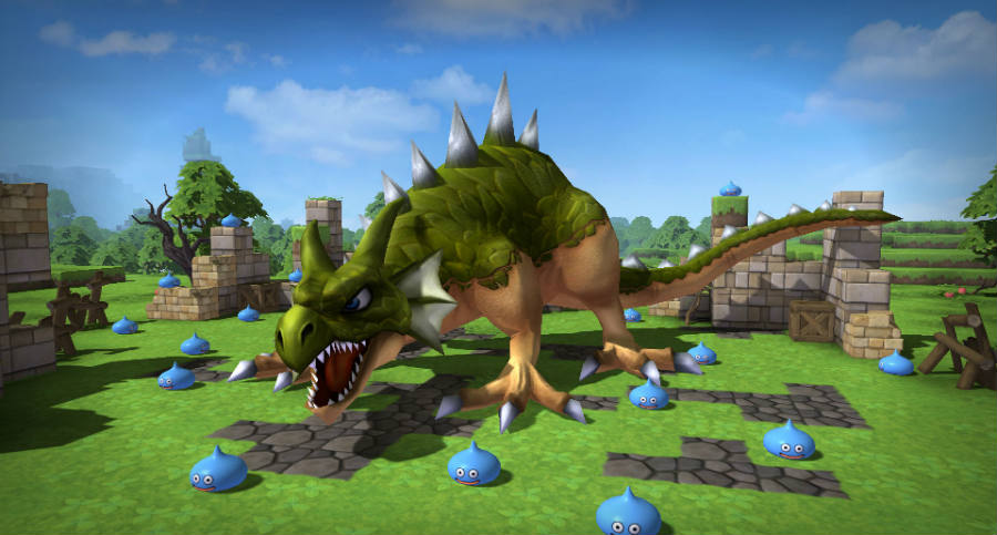 Dragon Quest Builders is compared to Minecraft for its pixelated looks.