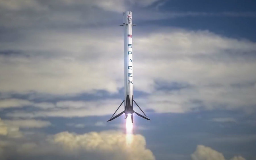 "SpaceX Falcon 9 rocket once again has successfully landed on a drone ship called ""Of Course I Still Love You"". Photo credit: SpaceX / America Space"