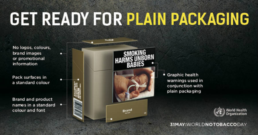 As seen above, a graphic explanation on how the plain packaging works.