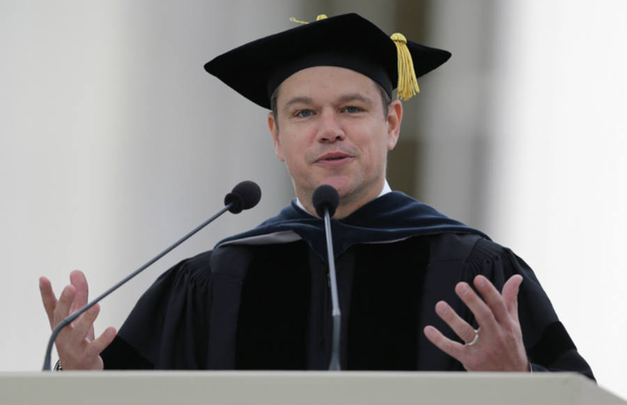 "Matt Damon and MIT have a long history, the last time the actor was in the school was in 1997 when the movie ""Good Will Hunting"" premiered starring the cast as an unrecognized genius that serves as a custodian. Image Credit: Daily Mail"