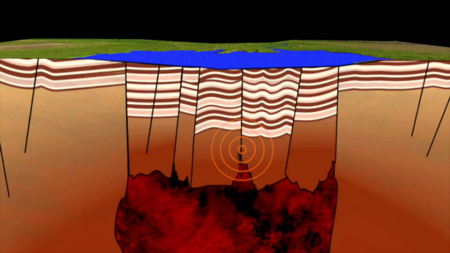 Scientists have discovered a magma chamber in New Zealand that explains the recent earthquakes in the area. Photo credit: GNS Science