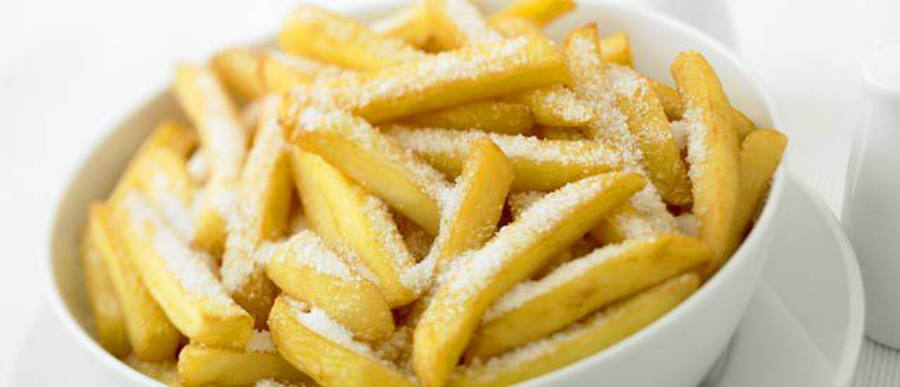 Anyone putting this much salt on fries, or any other food, has an excessive sodium intake habit.