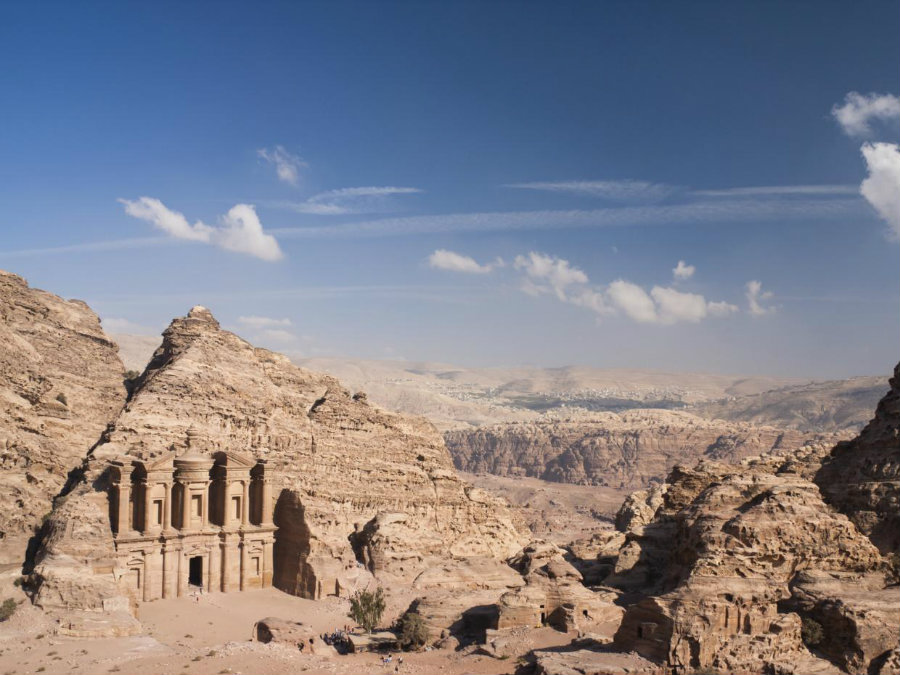 "Archaeologists have found a gigantic monument hidden in ""plain sight"" at the ancient city of Petra located in southern Jordan. Photo credit: Getty / Independent"